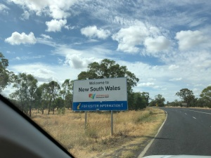 Crossing the NSW border