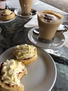 The best scones with jam & cream