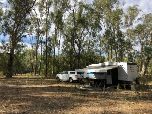 Our campsite along the Murray