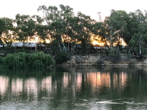 Sunset over the Murray at Cobram