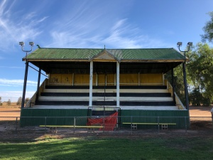 The old grandstand